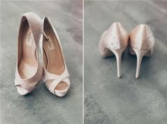 Pink satin wedding shoes by Valentino