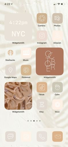 Give your iPhone home screen a makeover with our Neutral app icons. With the new iOS 14 update you can now make your iPhone home screen look like this with widgets and shortcuts! #ios14 #appicons #iPhonehomescreen #aestheticappicons #minimalistAesthetic #fallwallpaper Walpapers Iphone, Iphone Homescreen Wallpaper, Ios Phone, Wallpaper App, Iphone Icon, Wallpapers, Iphone Home Screen Layout, Iphone App Layout, Longboard Design