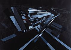 Pre-Construction Architectural Painting for the Lois & Richard Rosenthal Center for Contemporary Art - Architecture - Zaha Hadid Architects