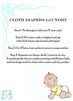 Cloth Diaper Laundry Printable | call me crazy, but I think I'm trying cloth diapers whenever I have another baby