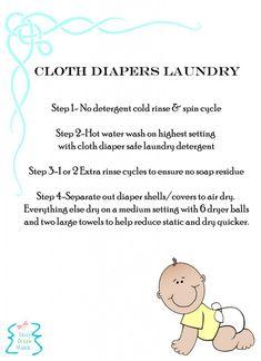 Cloth Diaper Laundry Printable