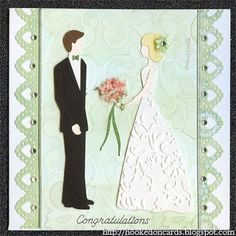 I made these wedding cards and I thought I should share them with you. I cut the bride and groom at 10cm from the Sweet hearts cricut c...