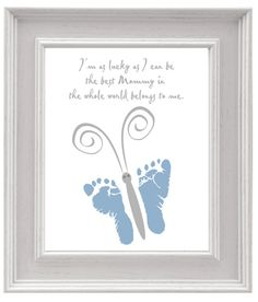 Look for the best Mother's Day their personal gifts for your wonderful mum! Great Mothers Day Gifts, Fathers Day Crafts, Mother Day Gifts, First Mothers Day, Baby Crafts, Crafts For Kids, Quotes Girlfriend, Baby Footprint Art, Footprint Art