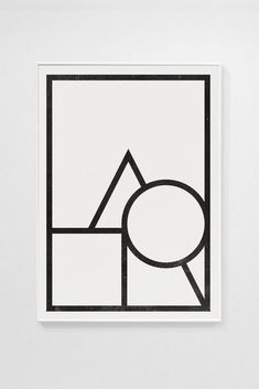silkscreen print on 300 gr. Made by hand in Barcelona by Emil Kozak. Inspired by the famous color/shape test Kandisky made for the Bauhaus students in Silk Screen Printing, Color Shapes, Visual Communication, Bauhaus, Typography, Graphic Design, Art Prints, Black And White, Illustration