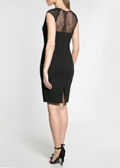 Blond lace ponte dress