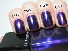 China Glaze - Let's Groove, Illamasqua - Baptiste and essie - Sexy Divide.