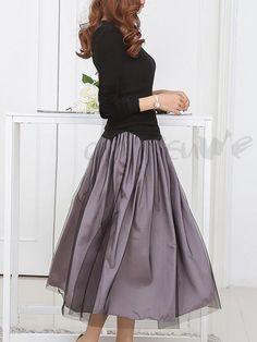 大人可愛い2点セット Tシャツ+メッシュ切り替えフレアスカート 大裾 ふんわり スカートセットアップ レディース 13065577 - おしゃれセットアップ - Doresuwe.Com