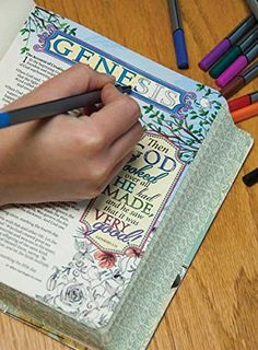 COLORING & JOURNALING BIBLES - INSPIRE BIBLE.  Inspire is a new single-column, wide-margin New Living Translation Bible great for art journaling.