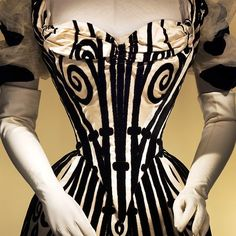Bodice detail, Evening Gown, House of Worth, 1898 | JV