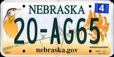 Nebraska State License Plate   The US50