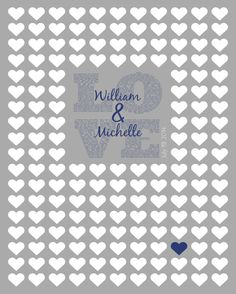 Wedding Guest Book Alternative 1 Corinthians 13 by NuzzleDesign, $25.00