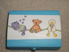 Box with decoupage