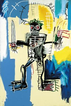 Jean-Michel Basquiat, Warrior, 1982, Acrylic and oil paint on wooden panel, 122 x 183 cm