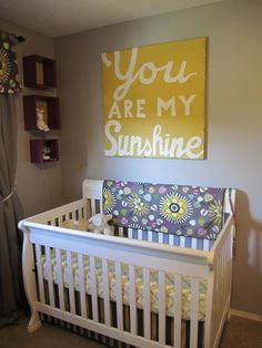 DIY You are my sunshine, so cute above the crib