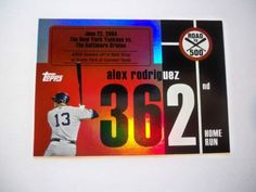 2007 Topps Alex Rodriguez Road to 500 HR #362 Yankees NM/MT