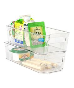 Take a look at this 13'' x 6'' Clear Refrigerator Organizer - Set of Two today!