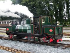 """15"""" gauge K1 that also formally ran in Tasmania, sitting in the yard at Dinas North Wales as the original K1 passes by on a service train."""