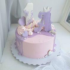 Доброе утро)) Тортик для малышки на первый день рождения. Люблю нежнятинку☺