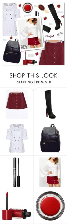 """""""simple"""" by arohii ❤ liked on Polyvore featuring Bourjois, Giorgio Armani, AERIN and blinddate"""