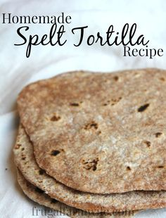 Making spelt tortillas is almost just like making any other four tortilla - but easier. The low gluten make spelt not only easier to digest, but easier to roll the dough, and tastier to boot! These are a must try for anyone who loves homemade recipes! Mexican Food Recipes, Real Food Recipes, Vegan Recipes, Cooking Recipes, Buckwheat Recipes, Alkaline Spelt Bread Recipe, Free Recipes, Dinner Recipes, Vegetarian