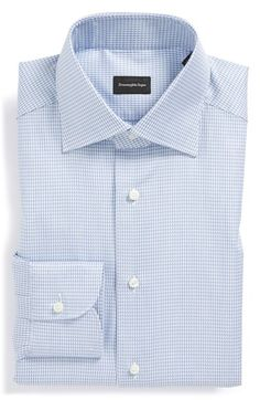 Ermenegildo Zegna Regular Fit Houndstooth Dress Shirt