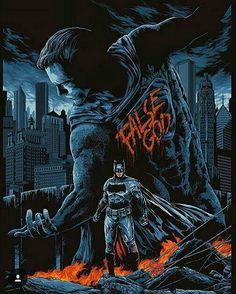 Batman v Superman by Ken Taylor (@ kentaylorart)