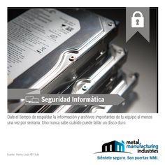 El tip de #Seguridad Informática de hoy nos recuerda que debemos tomarnos el tiempo de respaldar nuestros archivos importantes.