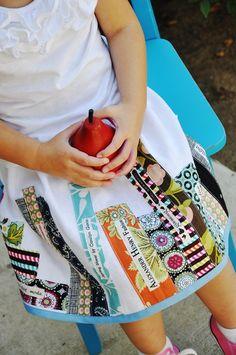 Bookworm Skirt Tutorial -cute bookworm idea for different gifts:pillows, shirt, quilt, etc