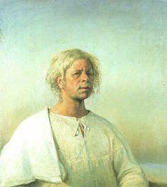 Blue Self Portrait by Odd Nerdrum ... Norwegian figurative painter