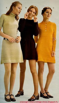 1971 mini dress. They are all really cute. Also notice the shoes!