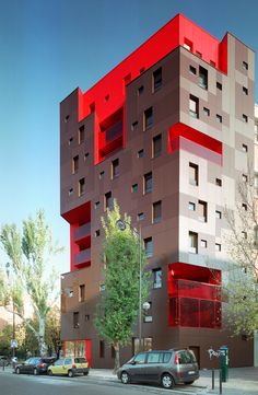 Student Housing Yersin in Paris, France. Colour Architecture, Facade Architecture, Residential Architecture, Contemporary Architecture, Amazing Architecture, Student House, Social Housing, Amazing Buildings, Facade Design