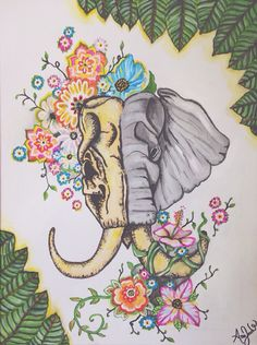 Elephant painting done in acrylic