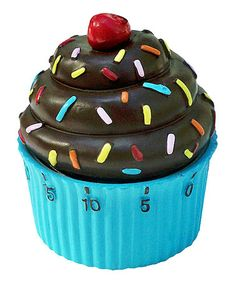 Take a look at this Chocolate & Turquoise Cupcake Timer by Two Lumps of Sugar on #zulily today!