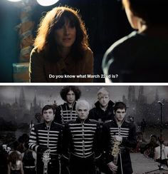 I DIED AND JOINED THE BLACK PARADE WHEN SHE SAID THAT