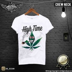 Funny-Men-039-s-Weed-T-shirt-Marijuana-Cannabis-High-Time-Stoned-Drug-Tank-Top-MD07