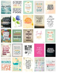 Some quote boxes to fit into the erin condren Life Planner that I found on goggle search then copy and pasted into an easy-to-print document.