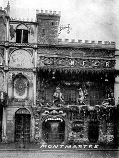 Le Café de L'Enfer was a Hell-themed café in Paris' red light district (aka Pigalle, the neighborhood of the Moulin Rouge), created in the late 19th century and operating up 'til sometime around the middle of the 20th.