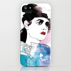 Rachel  iPhone & iPod Case by Judit Garcia-Talavera - $35.00
