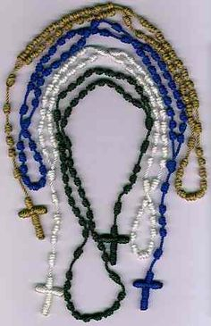 Rosary Workshop: lots of tips on how to make knotted rosaries.