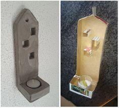 hobby betondk sdan kan du lave en skabelon til en vg vegg lysestake concrete