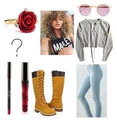 """""""Untitled #74"""" by pvris1601 on Polyvore featuring Bullhead Denim Co., Timberland, Oscar de la Renta and Sheriff&Cherry"""