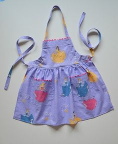 Disney princesses apron toddler/baby apron bib by GrannyAnnieKids