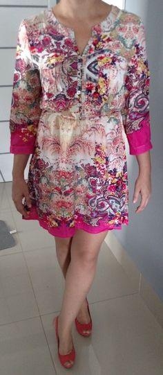 Vestido Bata Fashion em viscose                                                                                                                                                     Mais