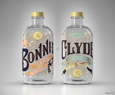 BONNIE & CLYDE Gin on Behance