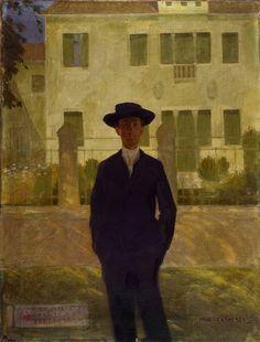 Felice Casorati (Italian, 1883-1963) - Portrait of Camillo Luigi Bellisai, 1906