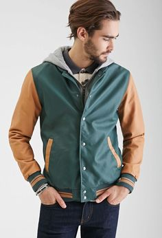 wholesale wind breaker colorful faux mens leather varsity hooded winter jacket, View varsity jacket, Profound , OEM Product Details from Guangzhou Profound Garment Co., Ltd. on Alibaba.com