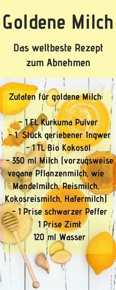 Slimming golden milk, you want to lose weight with golden milk … Golden milk recipe. Slimming golden milk, you want to lose weight with golden milk … – – Smoothie Drinks, Healthy Smoothies, Turmeric Milk, Eat Smart, Milk Recipes, Want To Lose Weight, Superfood, Healthy Life, Healthy Nutrition