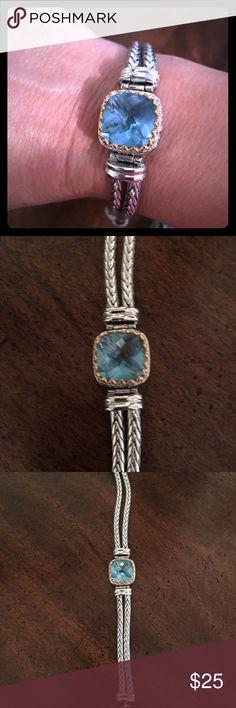 Blue topaz silver bracelet Beautiful lady's blue topaz silver bracelet Jewelry Bracelets