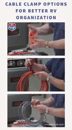 It can be a real hassle to keep cables and cords in proper order while traveling the country in your RV. Honestly, who has the patience for unruly generator hookups? Luckily, expert Dave Solberg has a few cable clamp options that will help you to quickly declutter your storage space! In this free lesson, Dave introduces multiple inexpensive products you can add to your organization arsenal. Rv Trailers, Travel Trailers, Rv Storage, Storage Spaces, Rv Refrigerator, Rv Organization, Rv Tips, Rv Hacks, Grocery Lists
