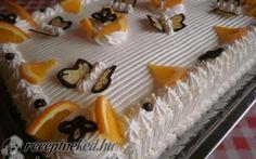 Narancsos oroszkrém szelet